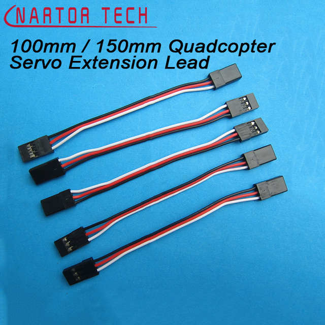 10PCS 100mm / 150mm 15cm Quadcopter Servo Extension Lead Futaba JR ...
