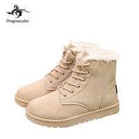 Female Warmer Plush Sneakers Fur Suede Women Boots Flat Women Shoes Slip On Winter Ankle Snow