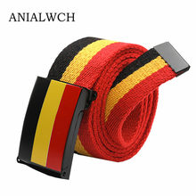2018 Time-limited Special Offer 110cm Unisex Canvas Belt Street Hip-hop Stripe Punk Student's Tide Brand Belts For Jeans U019(China)