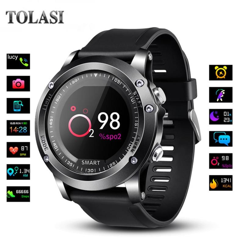 цена на TOLASI T2 IP68 Waterproof Heart Rate Blood Pressure oxygen monitor Smartwatch Outdoor Sport Digital Watch Women