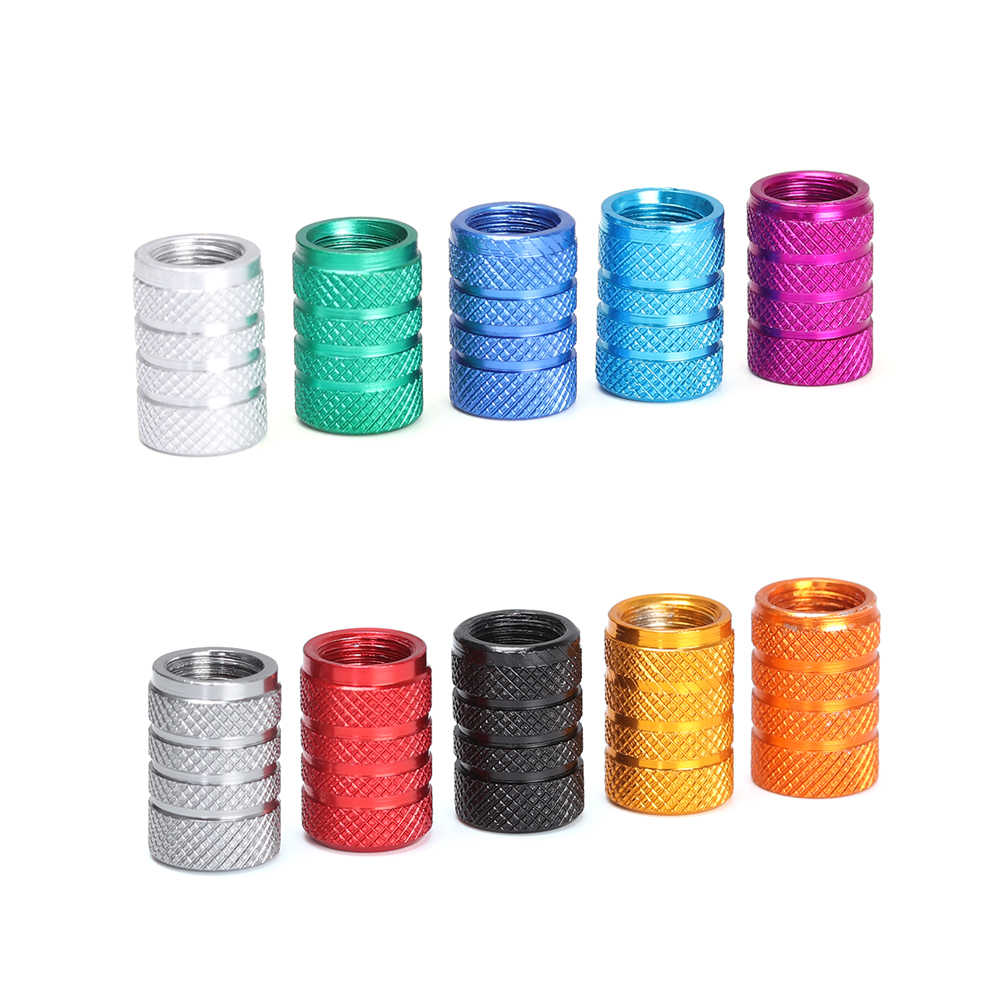 4Pcs Aluminium Alloy Bicycle Cap Dustproof Bike Wheel Tire Covered Car Truck 10 Colors Universal Tube Tyre Bicycle Accessories
