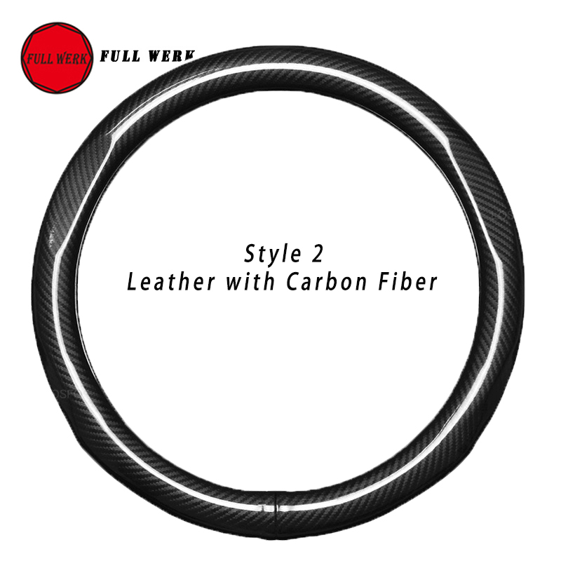 Leather Car Steering Cover for Tesla Model S Model X Steering Wheel Protector Wrap Decoration Hand-stitched 38cm Accessories