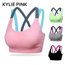 KYLIE PINK Sexy Bra Women Fitness Genie Seamless Padded Dry Quick Push Up Natural Color Breathable Support Free Shipping