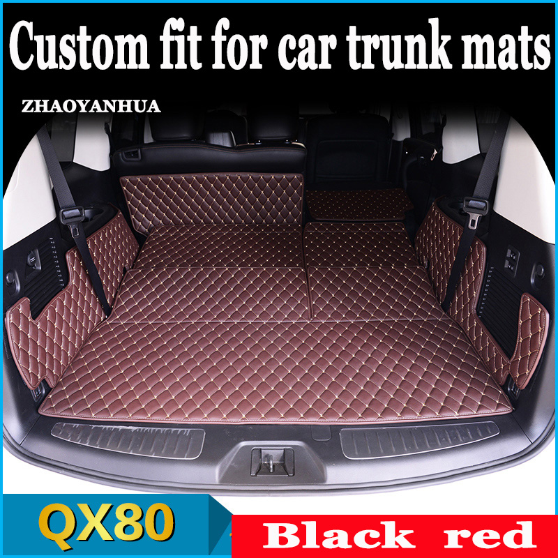 All surround car trunk mat for Infiniti QX56 QX80 QX70 QX60 TPE+XPE Anti-slip leather trunk pad Customized floor mat All surround car trunk mat for Infiniti QX56 QX80 QX70 QX60 TPE+XPE Anti-slip leather trunk pad Customized floor mat