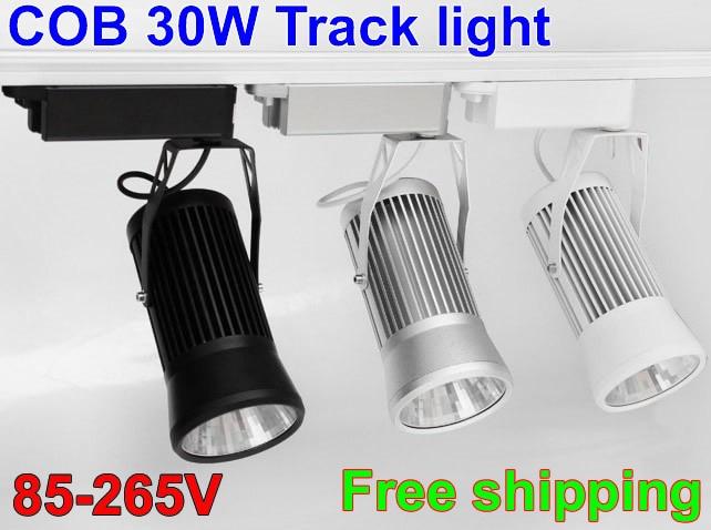 10pcs Cob Led Track Light 20W 30W 3300LM 4000K 220V 110V Track Rail spot Led Shop Lights For Clothing Industrial Lighting