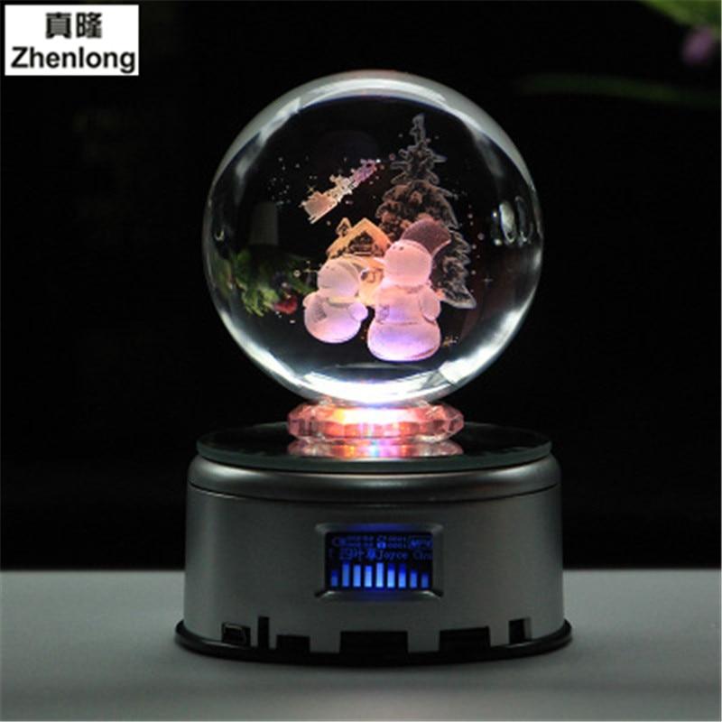 где купить Christmas Present Ball Pokemon Go Glass Ball Home Decoration Lamp LED Colorful Rotate Base Child's Christmas Gift по лучшей цене