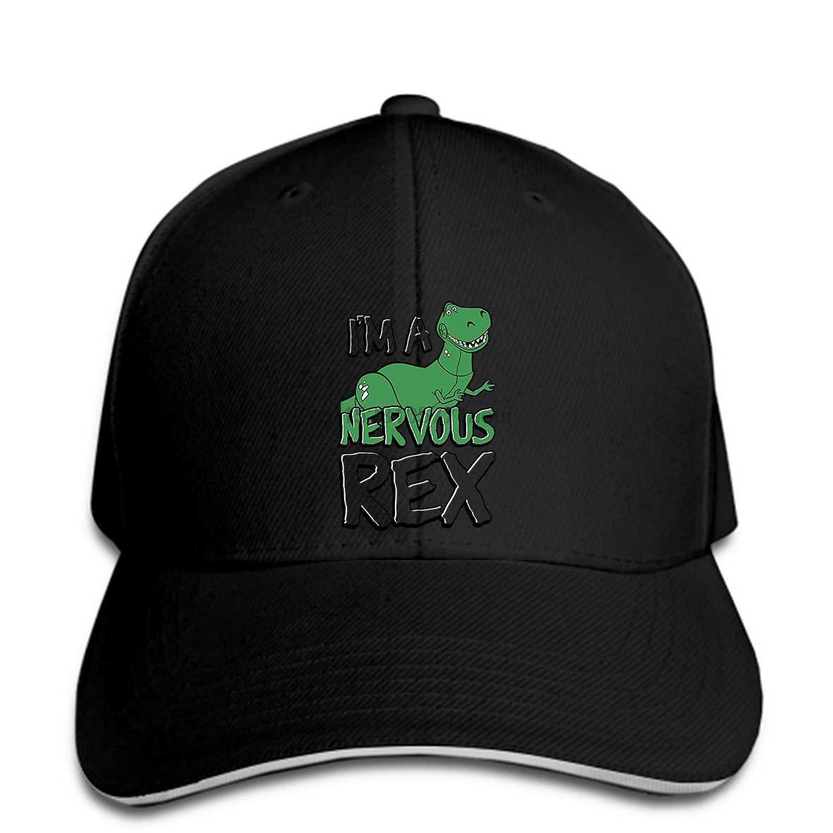 قبعة بيسبول مضحك الرجال طباعة قبعة قبعة بيسبول s snapbacks أسود الرجال قبعات البيسبول المخصصة لعبة قصة العصبي ريكس الجرافيك