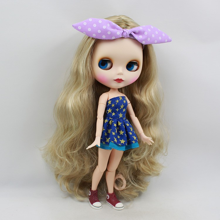 Neo Blythe Doll with Blonde Hair, White Skin, Matte Face & Jointed Body 4
