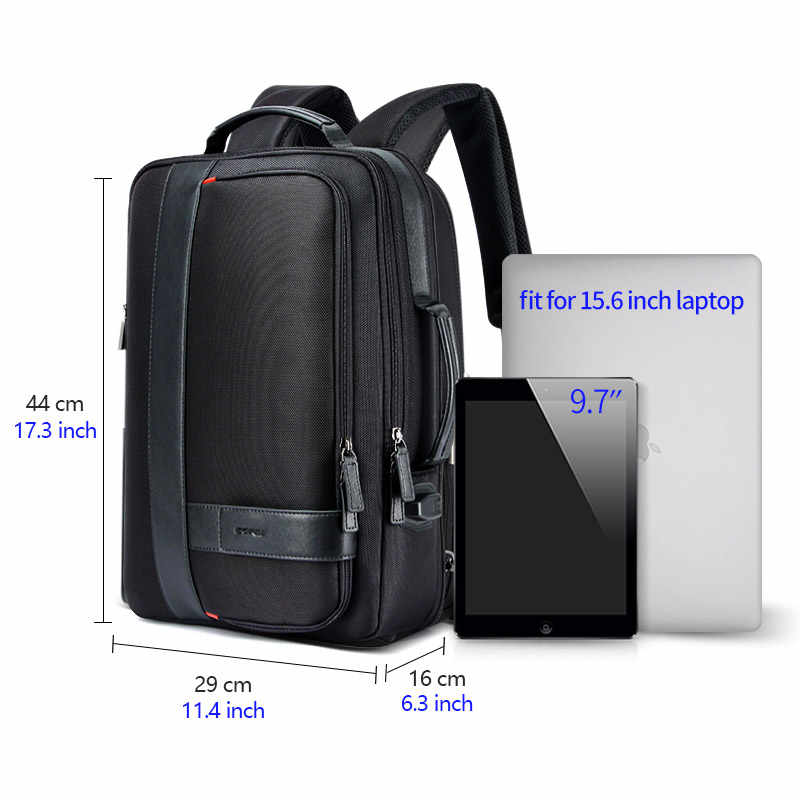 Bopai mochila homem ampliar usb carga externa portátil mochila 15.6 Polegada grande capacidade anti-roubo mochila de viagem para adolescente