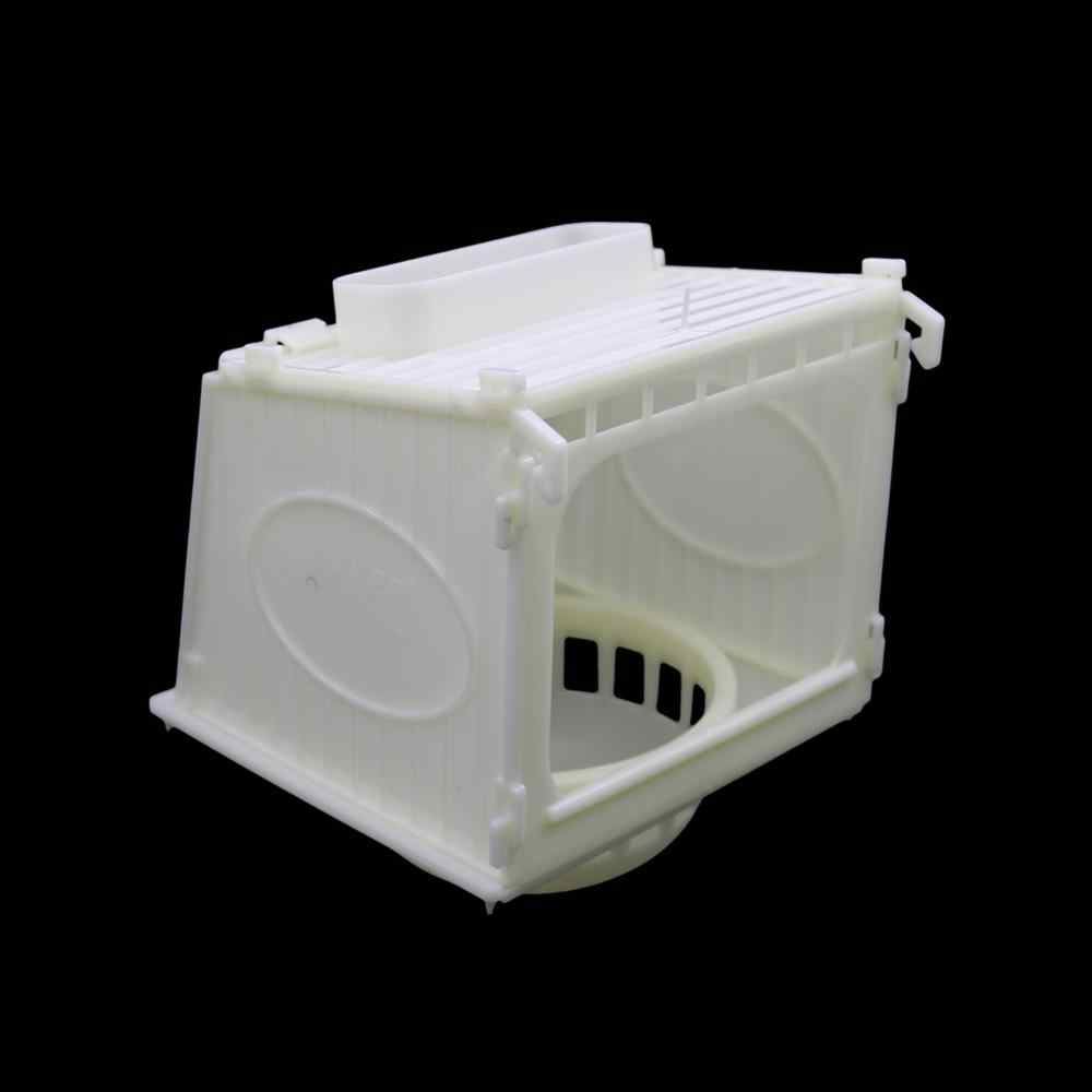 1 Pcs Bird Cage Bird House Parrot Cage White High Quality Plastic Pet Bird's Nest Removable