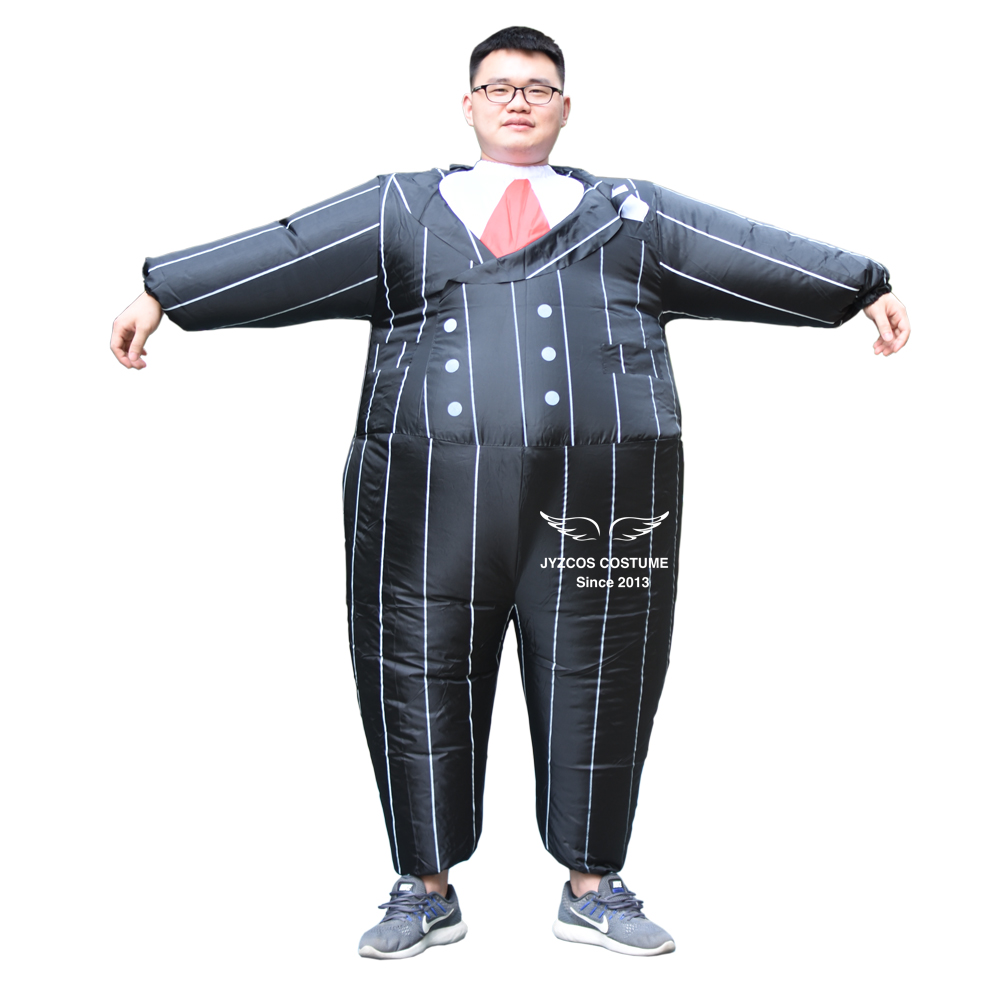 Gangster Inflatable Costume Party Carnival Cosplay Fancy Dress Blow