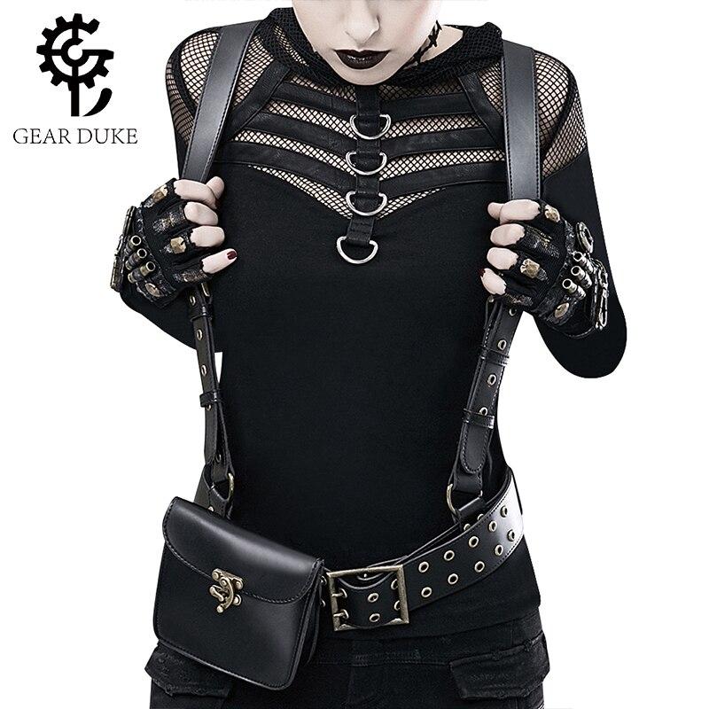 Gear Duke 2018 sac à dos Steampunk pour femmes sacs à dos en cuir PU pour femmes sacs à bandoulière gothiques sac de jour de taille de moto