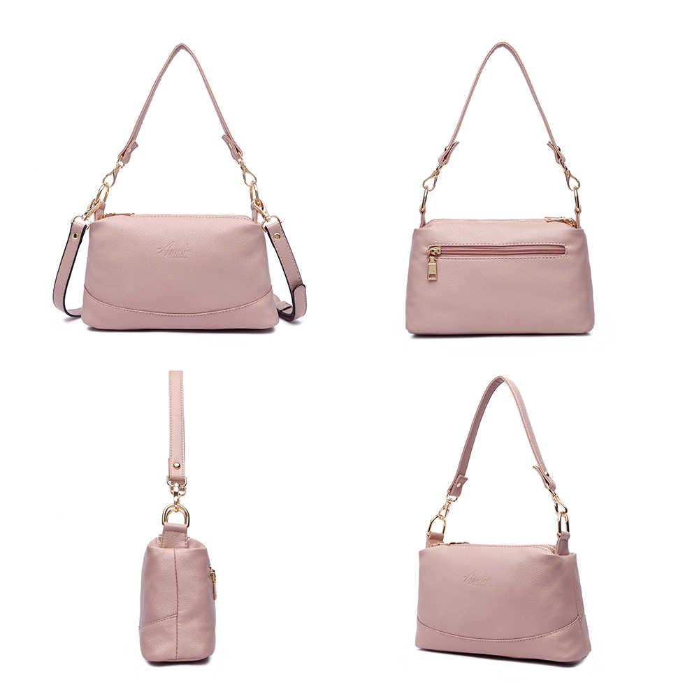AMELIE GALANTI Для женщин плеча сумки crossbody Сумка Женская Искусственная кожа сумки женские модные однотонные небольшая сумка кошелек