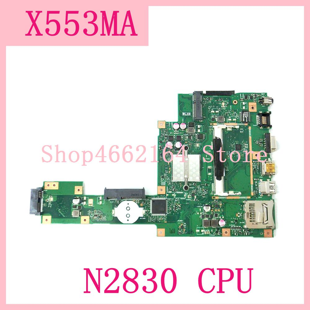 X553MA_MB_N2830CPU Laptop motherboard REV2.0 For ASUS A553M X503M F503M X553MA X503M X553M F553M Notebook mainboard fully tested-in Laptop Motherboard from Computer & Office