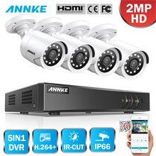 цена на ANNKE 1080P 8CH Video Security System H.264+ 1080N DVR With 4PCS 2MP HD Smart IR Bullet Waterproof Camera Surveillance CCTV Kit