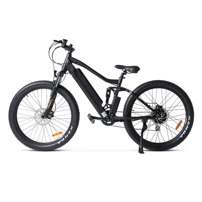 27.5inch electric mountian bicycle 36V lithium battery 250w high speed motor e-bike Aluminum alloy frame full suspension EMTB