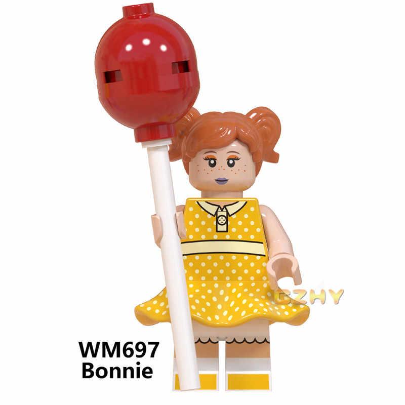 WM6060 игрушка история блоки древесный Базз Лайтер Alien Ducky Duke Caboom Bo Peep Gaby детские строительные блоки игрушки для детей
