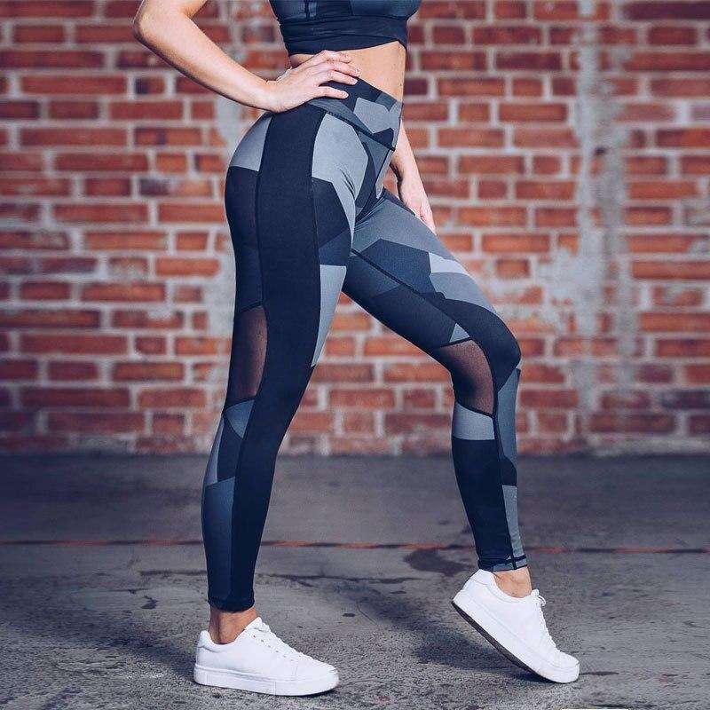 High Waist Fitness Leggings Mesh Leggings Women Digital Print Legging Breathable Hip Pants in Leggings from Women 39 s Clothing