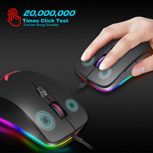 Silent Click USB Wired Gaming Mouse 6 Buttons4800DPI Mute Optical Computer Mice for PC Laptop Notebook Game Gamer