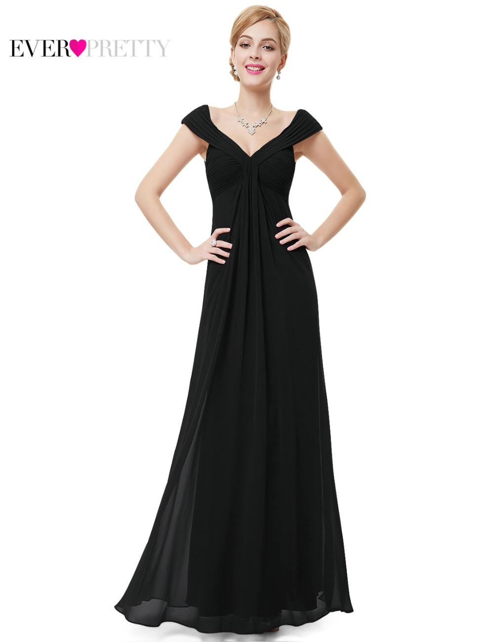 Sexy   Evening     Dresses   Ever Pretty HE08457 Women Elegant 2018 Burgundy V-neck Long Cheap Maxi Party   Evening     Dress   Party Gowns