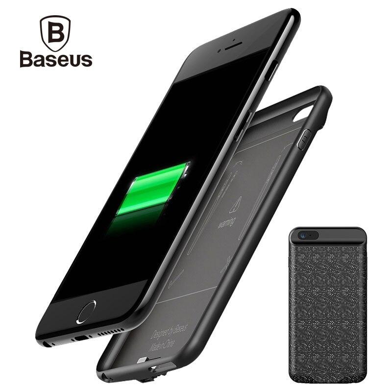 BASEUS 5000/7300 мАч Комплекты внешних аккумуляторов резервного копирования Зарядное устройство Мощность чехол для <font><b>iPhone</b></font> <font><b>6</b></font> S Портативный Запасные Ак&#8230;