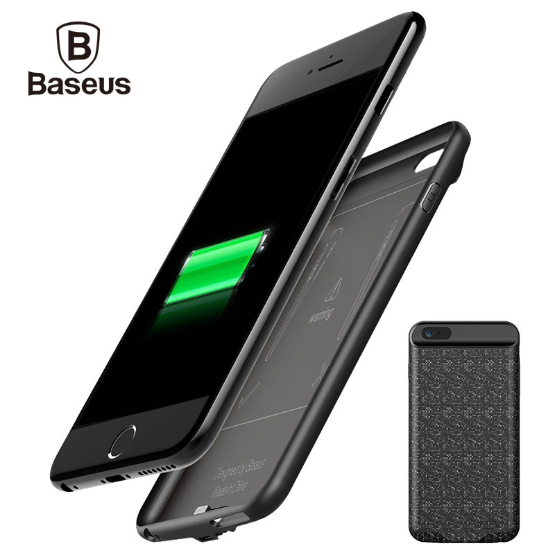 Baseus 5000/7300mAh External Battery Pack Backup Charger Power Case For iPhone 6S Portable Power Bank Case For iPhone 6 6S PlusBaseus 5000/7300mAh External Battery Pack Backup Charger Power Case For iPhone 6S Portable Power Bank Case For iPhone 6 6S Plus