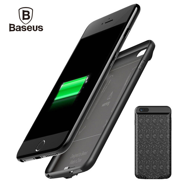 the best attitude 9e00a 080a1 US $21.99 35% OFF|Baseus 5000/7300mAh External Battery Pack Backup Charger  Power Case For iPhone 6S Portable Power Bank Case For iPhone 6 6S Plus-in  ...