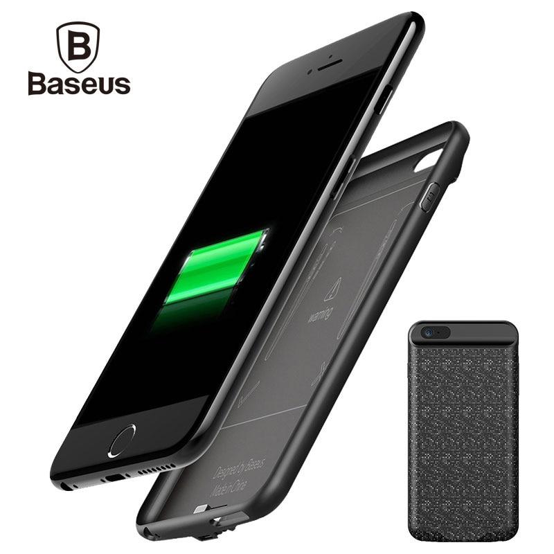 imágenes para De Baseus 5000/7300 mAh Batería de Reserva Externa Del Cargador de Alimentación Para iPhone 6 S Caso Banco Portable Para el iphone 6 6 S Plus