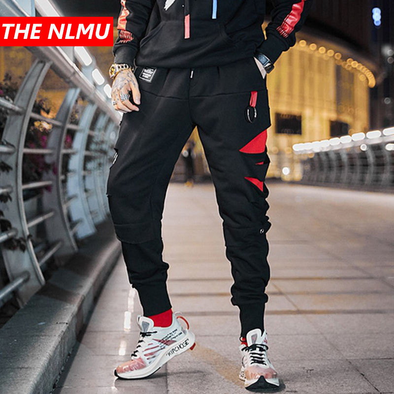 Black Hole Ripped Harem Pants Joggers Men 2019 Spring Hip Hop Track Pants Male Fashion Streetwear Trousers Sweatpant WG185