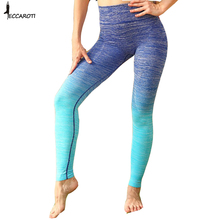 Women Yoga Sports Pants Women Compression Running Tights Leggings Gym Athletic Skinny Fitness Sports Wear Trousers