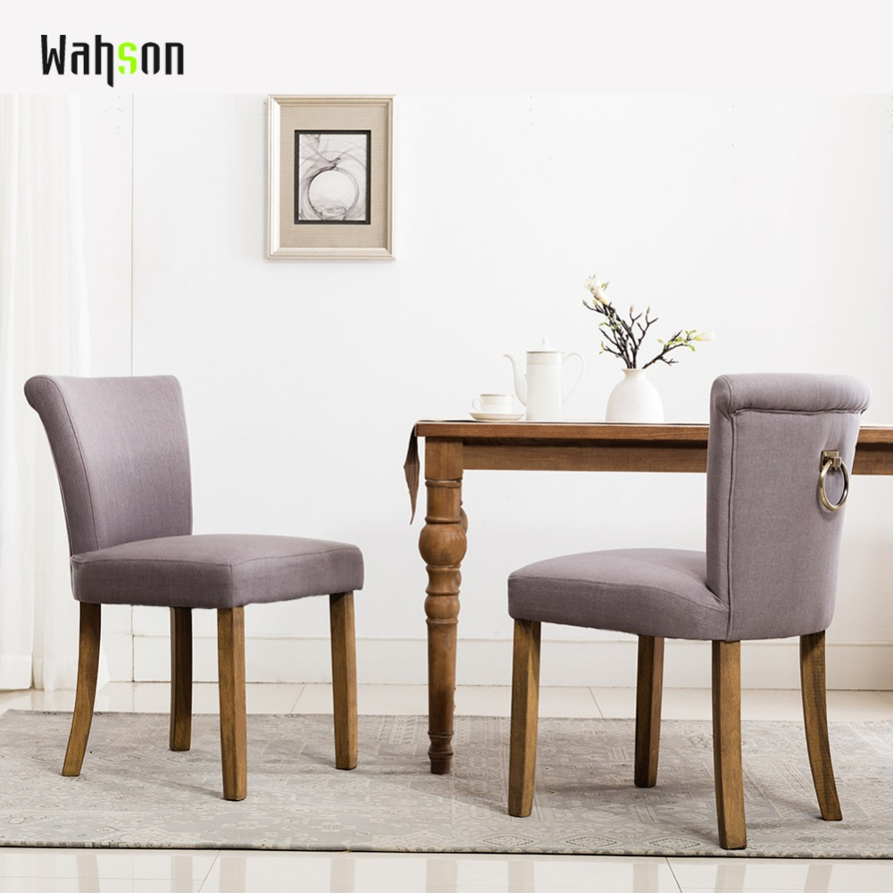 Wahson Tufted Upholstered Dining Chairs, Rustic Linen Wingback Dining Room Chair for dining room, SET OF 2 все цены