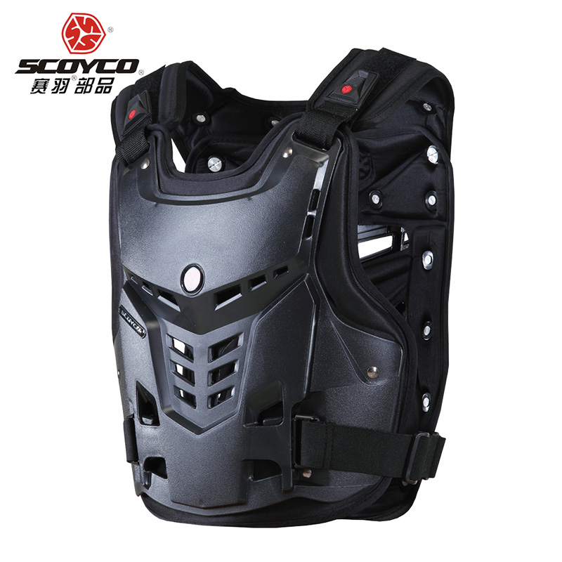 Scoyco Haute Qualité Moto Motocross Chest & Back Protector Armour Racing Vest Protection De Gardes Du Corps Armure Protection