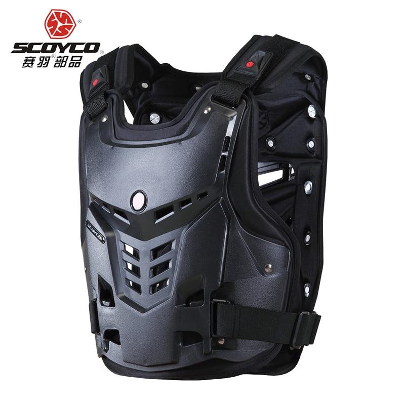 Scoyco haute qualité motos Motocross poitrine et dos protecteur gilet armure course Protection corps-garde armure Protection