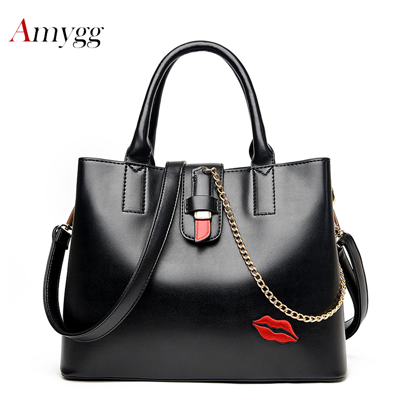 2018 Shoulder Crossbody Bag Lips Lipstick New Fashion Women Bag Messenger Bags High Quality PU Leather Handbags For Women Bag casual shoulder crossbody bags for women 2018 pu leather shoulder bag black gray red fashion simple womens bag high quality