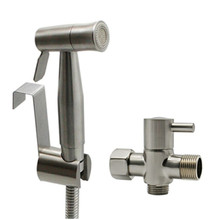 Stainless Steel Handheld Toilet Bidet Sprayer with 7/8 T-Adapter  And Hanger Holder Set