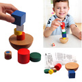 Wooden Toys For Children Balance Wobbling Tower Educational Wood Building Toy Blocks Early Learning Kids Gift CL0648H