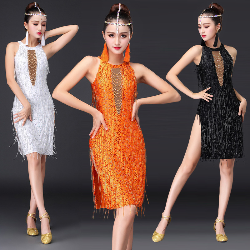 Latin dance dress sexy ballroom dance dress Adult women Special competition Lomba / Cha Cha / Samba / Waltz dance dress