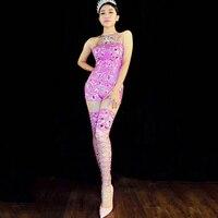 Пикантные джаз танцевальные Сценические костюмы для пикантные вечерние бар танцоров паб певица выступления шоу розовый женские костюмы
