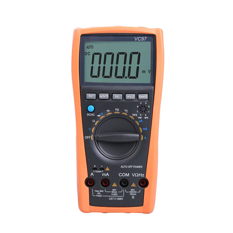 Brand New Electrical Instruments VC97 3 3/4 Auto Range Digital Multimeter Voltmeter Ammeter Temp Ohm Tester Large LCD Meter лампа автомобильная narva hr2 12v 45 40w p45t 48121