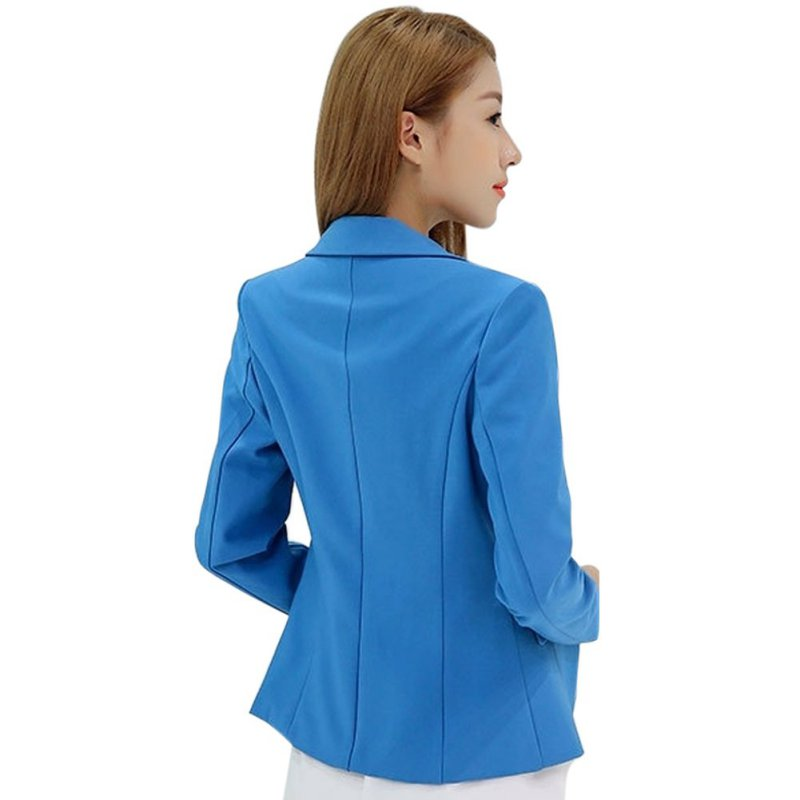 Frauen Herbst Blazer Langarm Single Button Damenjacke Büro OL Slim - Damenbekleidung - Foto 6