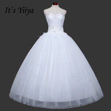 Free Shipping Sequins Bling Sweetheart Lace Wedding Dresses Cheap White Bridal Frocks Custom Made Vestidos De Novia MH39