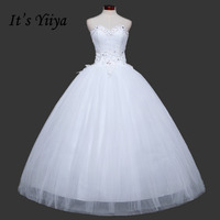 Free Shipping Sequins Bling Sweetheart Lace Wedding Dresses Cheap White Bridal Frocks Custom Made Vestidos De