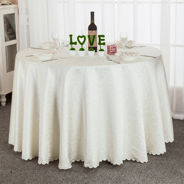 Wonderful 1PC Modern Round Table Cloth Fabric Home Hotel Party Wedding Tablecloth  Dinner Coffee Different Size Tablecloth