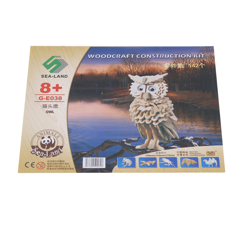 DIY 3D Wooden Owl Puzzle Game Gift For Children Kids Friend Model Building Kits Popular Toy Kids Wooden Puzzle Toys Gits