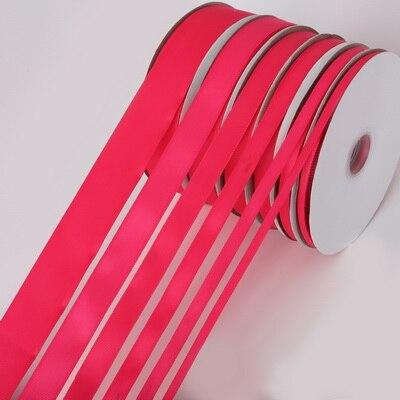5 ярдов/рулон корсажные атласные ленты для свадьбы, украшения для рождественской вечеринки, самодельные ленты для поделок, открыток, подарочных упаковочных принадлежностей - Color: Fuchsia