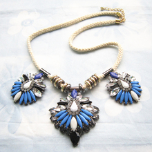 Newest Arrival Rope Choker Fashion Necklace Resin Flower Chain Necklaces & Pendants New High Quality Jewelry Statement Necklace