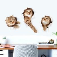 3d Cartoon Animal Kitten Wall Stickers Kids Room Decor Diy Art Decal Wallpaper Removable Pvc Refrigerator