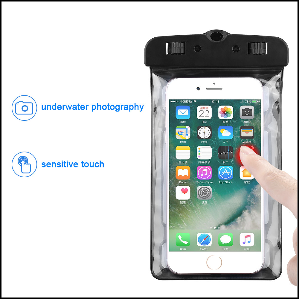 Luminous Waterproof Bag Underwater Pouch Phone Case For Iphone Samsung Galaxy Huawei Xiaomi Redmi Cell Phone Universal All Model Phone Pouch Phone Bags & Cases
