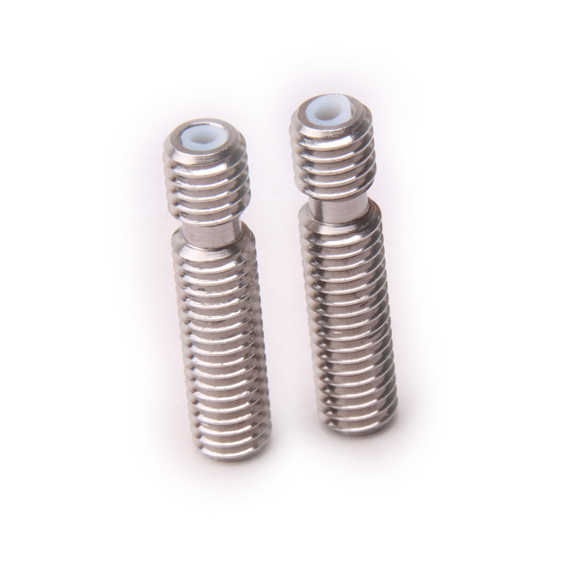 Glyduino 5 PCS For 3D Printer Accessories Makerbot Mk8 Stainless Steel Pipe M6*26 Teflon PTFE Core