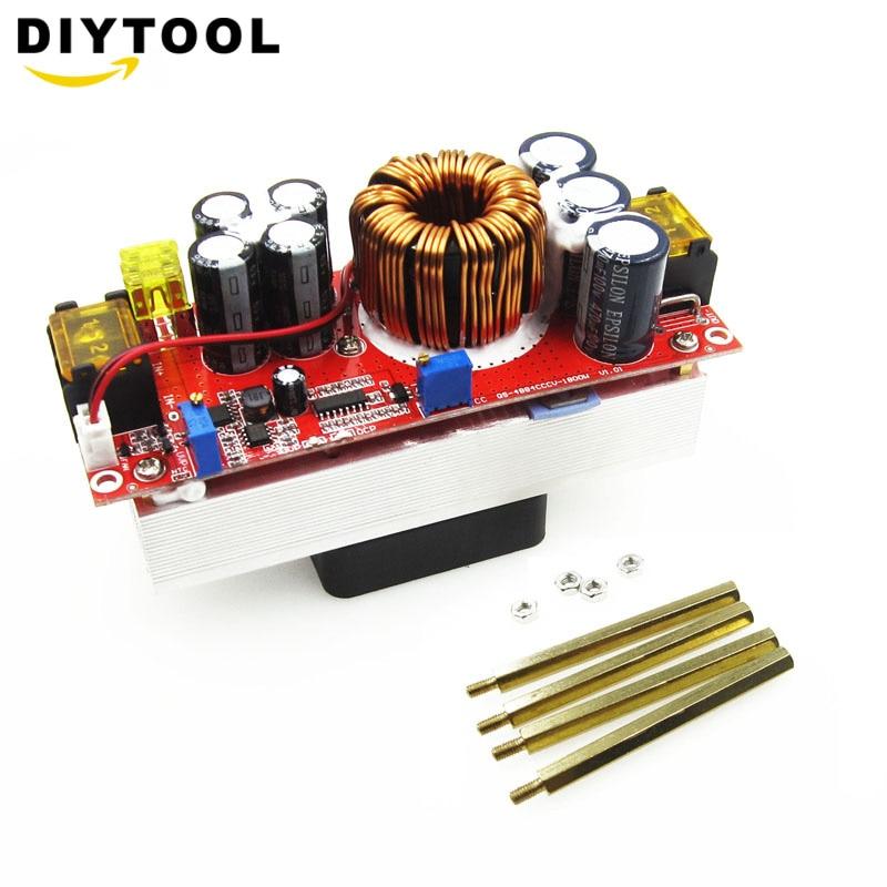 1800W 40A CC CV Boost Converter DC-DC Step Up Power Supply Adjustable Module DC 10V-60V to 12V-90V DIY kit Electric Unit Module